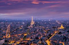 Paris from above (v-_-v) Tags: sky city paris france europe lights illumination arcdetriomphe invalidendom lesinvalides hoteldesinvalides streets tower montparnasse cityscape sparkling