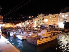 Capri Night III (geedub611) Tags: sea italy night lights capri coast boat dock waves harbour jetty