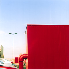 (bamboolizer) Tags: red film analog enlargement kodakfilm darkroomprint hasselblad503cw carlzeisst kodakektar100 80mmf28cf omegad5xl fujic2ctypepaper fujiprintingpaper