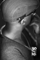 24/30 (Paolo Martinez) Tags: bw selfportrait blur hat self mood paolo bokeh garage flash emotive 135mm 6d striplight rotalux