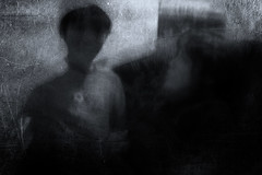 mother and child (Lamson Noswen (c'lamson)) Tags: blackandwhite abstract texture love mono mother atmosphere son icm lamson motherly abstractportrait personallove