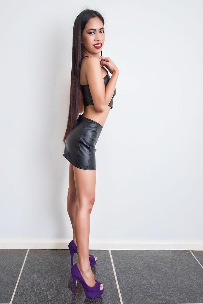 Asian girls in tiny mini skirts