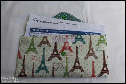 """Bolsa para documentos de viagem """"Paris Coloré"""""""