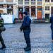 Bruxelles - Alerte maximale - Grand-Place (Grote Markt) - La police et le 12e de Ligne veillent