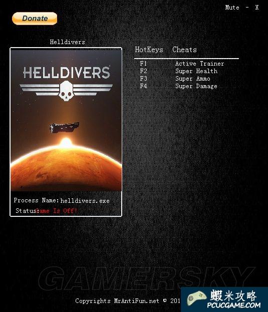 絕地戰兵 Helldivers 修改器使用方法 地獄使者無限生命、無限彈藥、一擊必殺修改器下載