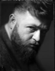 Bundalo (Braca Nadezdic) Tags: portrait analog blackandwhite bw polaroid polaroid55 4x5 largeformat graflex speedgraphic kodak aeroektar expired