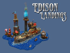 Edison Landings (2 Much Caffeine) Tags: ship lego steampunk moc brick2015