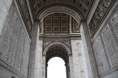 Walking through the Arc de Triomphe (praja38) Tags: world life paris france history nature de french war arc triomphe charles humour historic unknown soldiers names arcdetriomphe capricorn gaulleplace soldierworld