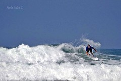 """""""There are a million ways to surf, and as long as youre smiling youre doing it right.   Unknown (Maria Luiza S) Tags: ocean blue sea sky praia beach azul mar wave cu oceano onda surt"""