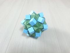 Decorated Icosidodecahedron (hyunrang) Tags: origami cube icosahedron hur decorated icosidodecahedron