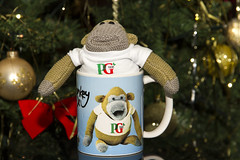 Monkey is a mug (Kev Gregory (General)) Tags: uk vegas television shop digital advertising monkey office high knitting sock ebay ben puppet tea susan patterns united kingdom jim pg lancashire company miller short tips johnny british characters animated tshirts gadget gregory creature kev brand nigel accent produced appearance demand henson supply munkeh sitcom itv beattie popularity the campaigns bankruptcy purchased womanizer plaskitt puppeteered characterknitted