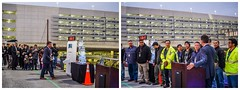 sfo's chief operating officer ivar satero acknowledges the electrical staff (pbo31) Tags: california christmas holiday color season lights airport nikon december sfo garage parking over bayarea sanbruno sanfranciscointernational 2015 boury pbo31 d810