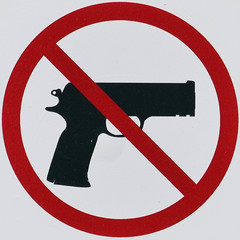 No guns (Leo Reynolds) Tags: xleol30x squaredcircle signsafety signcirclebar gun weapon signno panasonic lumix fz1000 sqset124 sign xx2015xx sqset