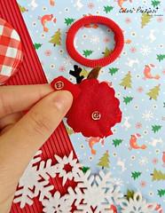Your christmas elastic hair (Colori Preziosi) Tags: christmas xmas handmade felt handsewn feltro renna feltreindeer rudolphreindeer coloripreziosi feltroepannolenci
