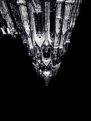 (electricgecko) Tags: monochrome iphone mobile kln cologne dom klnerdom inverted architecture gothic cathedral