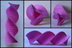 Paper Spiral Torus Three Sided / Origami Helix Twisted (2/4) (NeoSpica / NeoLiveArt) Tags: origami paper fold folding pleated structure spiral swirl helix triangle handmade homemade decor decorative infinity ring sculpture diy ideas diypaper paperengineering papercraftideas twisted column savonius wind infinityring circularstructure paperfold design paperart diydecor roomdecoration papercraft papiroflexia torus toroid geometric art moebius