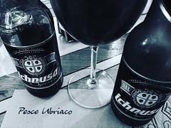 Sardinian beer in Sicilian restaurant (palladipelo_75) Tags: instagramapp square squareformat iphoneography uploaded:by=instagram clarendon milano milan ristorante birra cucinasiciliana iphone6 bw portavenezia pesceubriaco beer ichnusa