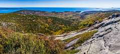 Cadillac Mountain Panorama (Davestarling) Tags: canon5dmarkiv canon1740mmf4l fallcolors foliage sea cadillacmountain seascape barhabor fall panorama acadia maine stitchedpanorama acadianationalpark