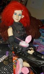 Colt the cutie pie (chalyss) Tags: charisma resinsoul 5stardoll5stardoll hybrid bjd bunnies slippers demon colt derringer