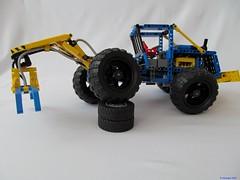 05e (nikolyakov) Tags: lego legotechnic eurobricks pneumatic logging skidder moc tc10