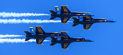 Blue Angels (David's Adventures) Tags: wingsoverhouston houston tx texas airplane airshow plane sky blue angels us navy canon1dx markii canon 600mmis40l 600mm