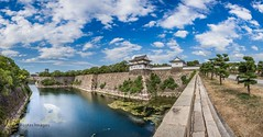 Osaka Castle West Entrance Panorama (Kostas Trovas) Tags: 6d castle tradition composition hdrfromoneraw asia kostasimages nature water clouds city tourist canon architecture flickr light culture trees reflection panorama construction beautiful travel symmetry osaka 500px sky eveninglight instagram frame japan outdoors