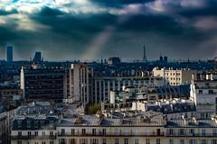 Toits de Paris (Meculda) Tags: tour eiffel tower paris france notredame montparnasse toit toits paysage extrieur ciel gris lumire