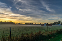 Misty Morning (tquist24) Tags: hdr indiana nikon nikond5300 autumn clouds fall farm fence geotagged morning pasture rural sky sunrise bristol unitedstates