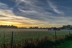 Misty Morning (tquist24) Tags: hdr indiana nikon nikond5300 autumn clouds fall farm fence geotagged morning pasture rural sky sunrise bristol unitedstates