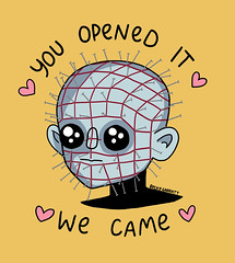 Pinhead (beckygarratt) Tags: pinhead cenobite hellraiser fanartfriday kawaii cute drawing illustration beckygarratt