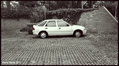 '94 Ford Escort (larry_shone) Tags: car ford escort urban selectivecolour