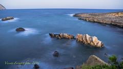 PA157048 (V. Ferragut) Tags: rocas mar mediterraneo azul olas amanecer ibiza eivissa calo silla olympus ferragut