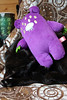 Iggletober day 20 - something purple (House Of Secrets Incorporated) Tags: iggletober gloomybear halloween toys plush plushie monster octoberchallenge photochallenge loa cat blackcat havanabrown cats pets animal animals