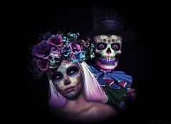 Da de los Muertos (Lestat Draconia (Mr. Worldwide)) Tags: secondlife second sl holiday skull skeleton dead