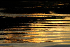 Time is like a river (Freyja H.) Tags: iceland skjlfandafljt river glacialriver sun sunset july evening summer water flow reflection ripples abstract outdoor nature time heraclitus