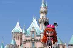Maggie Mae at Disneyland (Dolly Adventures in the Galland Household) Tags: blythe doll custom collectibles cute hobbies dollphotography dollartistry mickey ears disney disneyland castle