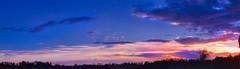 October 17 Sunset Panno (robinlamb1) Tags: landscape sunset colour clouds bluesky darkclouds trees