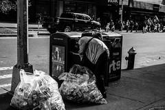 Hombre recogiendo latas (Garimba Rekords) Tags: nuevayork eeuu nyc ny otoo blancoynegro pobreza manhattan
