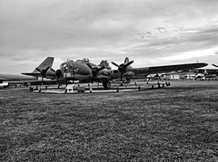 Grissom Air Museum 08-05-2013 - B-17G Flying Fortress Miss Liberty Bell HDR BW 3 (David441491) Tags: b17 b17g hdr