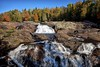 sand river waterfall, lake superior provincial park (twurdemann) Tags: 06ndhardgrad algoma autumn canada canadianshield fall2015 fallcolor fallcolours fujixt1 hiking lakesuperior lakesuperiorprovincialpark landscape leeseven5 nature nikcolorefex northernontario ontario ontarioparks pinguisibitrail sandriver scenic spray tonalcontrast viveza water waterfall whitewater wilderness xf14mm