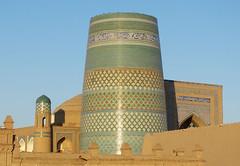 "Kalta Minor, le ""minaret court"" (Raymonde Contensous) Tags: ouzbkistan ichankaka khiva architecture islam mosquesetmedersas kaltaminor"