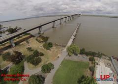 DU Antioch Bridge (bradleybennett) Tags: drone drones fly high quad copter blade 350qx3 remote control flying antioch bridge pier dock water delta san jaquin fish fisherman fishermen park
