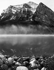 Bow Lake, Banff, AB (gks18) Tags: bw blackandwhite rockymountains alberta canon nature lightroom nik