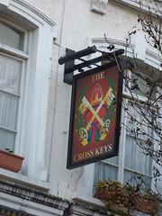 Cross Keys - Endell Street, Holborn, London - pub sign