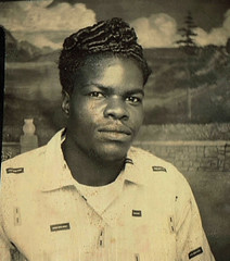 Photo Booth (~ Lone Wadi Archives ~) Tags: photobooth portrait blackman africanamerican lostphoto foundphoto mysterious unknown retro 1950s