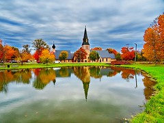 St. Paul's Anglican Church (1857), Sackville, NB (peggyhr) Tags: peggyhr stpaulsanglicanchurch swanpond autumn sackville newbrunswick canada reflections thegalaxy thegalaxyhalloffame super~sixbronzestage1 30faves~ thelooklevel1red level1peaceawards thelooklevel2yellow level2platinumpeaceaward thelooklevel3orange picsforpeaceaddphotos groupcoverphoto thelooklevel4purple thelooklevel5green thelooklevel6blue thelooklevel8gold