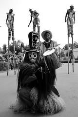 Togo Parade (Guy Colborne) Tags: stilts togo africa mask