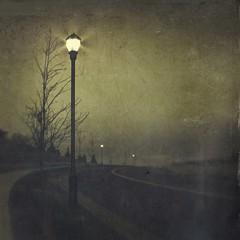 lamp light (jssteak) Tags: canon t1i morning blackandwhite vintage grung lamppost street