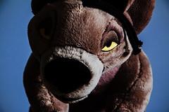026-Shenzis Studio Session #4 (Univaded Fox) Tags: shenzi hyena the lion king plush disney store photography experiment dramatic lighting filters photoshop univaded