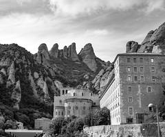 nestled into the mountains (Satirenoir) Tags: montserrat espana spain mountains monastery pyreneesmountains